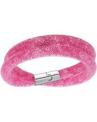 Swarovski Stardust Double Wrap Bracelet - Lyst
