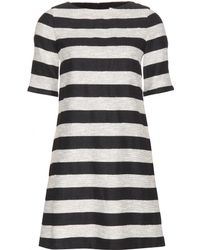 Alice + Olivia Mandy Striped Dress - Lyst