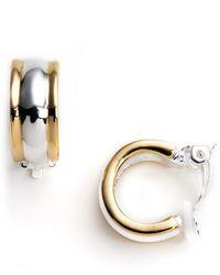 Lauren by Ralph Lauren - Clip-On Hoop Earrings - Lyst