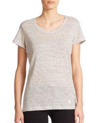 Burberry Brit Striped Linen T-Shirt - Lyst