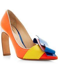 Nicholas Kirkwood Roksanda Color Block Curved Heel Pump - Lyst