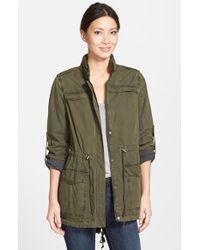 Levi's Lightweight Cotton Hooded Jacket green - Lyst