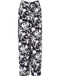 Oasis Monochrome Wideleg Trousers - Lyst