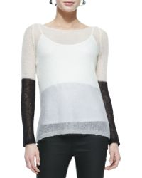 Eileen Fisher Plaited Mohair Box Top - Lyst