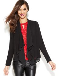 Inc International Concepts Draped Open-front Cardigan - Lyst