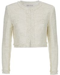 Alice + Olivia Lurex Tweed Cropped Jacket - Lyst