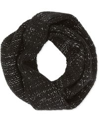 Hat Attack Metallic Knit Loop Scarf - Lyst