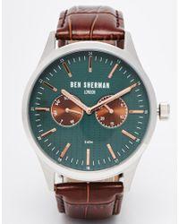 Ben Sherman Leather Strap Watch - Lyst