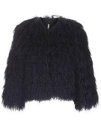 Topshop Mongolian Sheepskin Jacket - Lyst