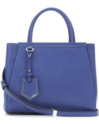 Fendi 2jours Small Leather Tote - Lyst