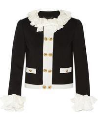 Moschino Silk-Trimmed Jersey Jacket - Lyst