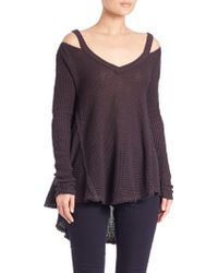 Free People | Moonshine V-neck Top | Lyst