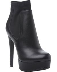 Steve Madden Cuba Leather And Neoprene Ankle Boots - Lyst