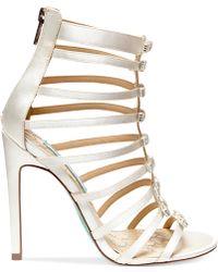 Betsey Johnson Blue by Tie High Heel Evening Sandals - Lyst