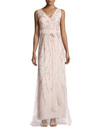 Carolina Herrera Bead-Embellished Tulle Gown - Lyst