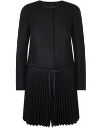 RED Valentino Pleated Skirt Coat - Lyst