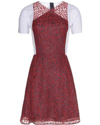 Carven Dress with Lace - Lyst