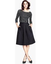 H&M Crinkled Skirt - Lyst
