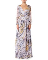 Matthew Williamson Paisley Starprint Silkchiffon Dress - Lyst
