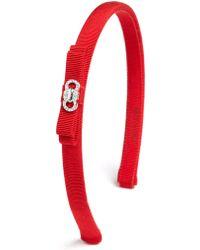 Ferragamo | Embellished Bow Grosgrain Headband | Lyst