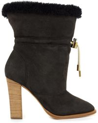 Chloé Drawstring Sheepskin Ankle Boots - Lyst