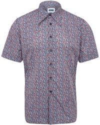 Christopher Shannon - Blue Floral Short Sleeve Shirt - Lyst