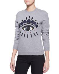 Kenzo Embroidered Eye Sweatshirt - Lyst