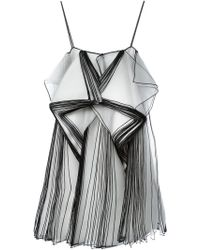 Christopher Kane Layered Organza Dress - Lyst