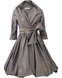 Catherine Regehr | Shawl Collar Bubble Wrap Dress | Lyst