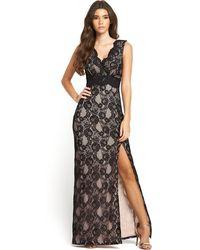 Lipsy Lace Maxi Dress - Lyst