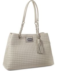 Calvin Klein Quilted Leather Tote - Lyst