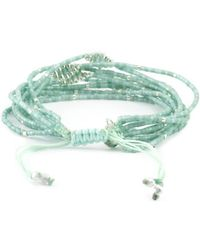 Chan Luu - Seafoam Mix Multi Strand Beaded Cluster Bracelet - Lyst