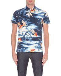 Ralph Lauren Koi-print Cotton-piqué Polo Shirt - Lyst