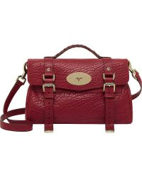 Mulberry Alexa Shrunken Leather Satchel Poppy Red - Lyst