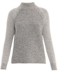 Vince Seed-stitch Wool-blend Sweater - Lyst