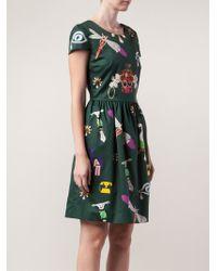 Mary Katrantzou Printed Dress - Lyst
