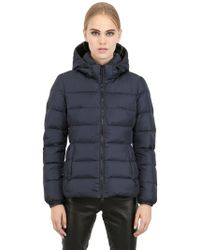 Add Hooded Nylon Down Jacket - Lyst