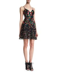 Elie Saab | Sleeveless Embroidered Fit-and-flare Dress | Lyst