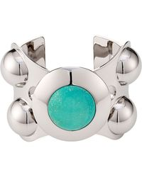 Emilio Pucci Cuff Bracelet With Turquoise - Lyst