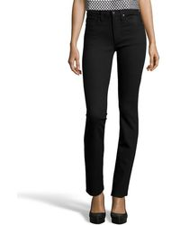 James Jeans | Black Shadow Stretch Cotton Denim 'high Class' Straight Jeans | Lyst