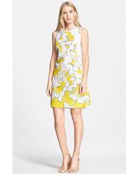 Diane von Furstenberg 'Samantha' Floral Print Shift Dress - Lyst