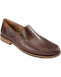 Tommy Bahama - Faxon Leather Moc-Toe Loafers - Lyst