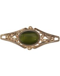 TOPSHOP - Freedom Found Collection Green Stone Brooch - Lyst
