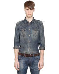 Diesel Vintage Cotton Denim Western Shirt - Lyst