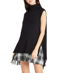 BCBGeneration | Fringe Turtleneck Tunic | Lyst