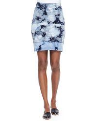 Pam & Gela Tie-Dye High-Low Hem Skirt - Lyst