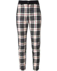 Isola Marras - Tartan Pattern Trousers - Lyst