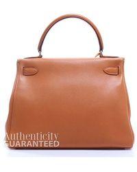 Hermès Pre-Owned Orange Swift Leather Kelly 28 Bag orange - Lyst