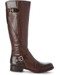 Franco Sarto Brown Perk Wide Calf Riding Boots - Lyst