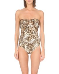 Gottex Maculato Bandeau Swimsuit - Lyst